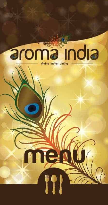 Menu aroma india for Aroma indian cuisine menu
